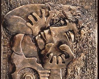 The Mystic: Bronze Narrative Sculpture