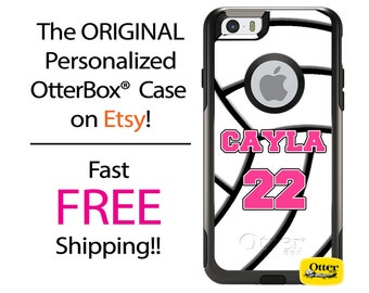 iPhone OtterBox Commuter Case for 7, 7 Plus, 6/6s, 6 Plus/6s Plus, 5/5s/SE, 5c Galaxy S7 S6 S5 Note 5 Custom Volleyball Phone Case