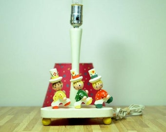 Vintage Nursery Originals Lamp Fred and Irmi Marching Band Wooden Light Child's Room 1981