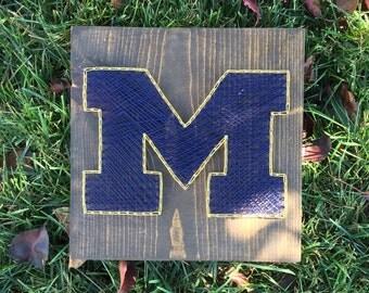 Made to order University of Michigan String Art