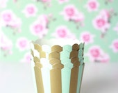 Mint and Gold Baking Cup, Candy Cup (25)