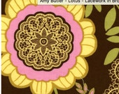 Amy Butler Fabric, LOTUS, Lacework in Brown, 1 1/2 yards