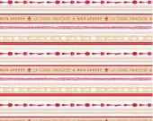 Ooh La La - Riley Blake  Fabric Yardage, Ooh La La, C4863 STRIPE RED