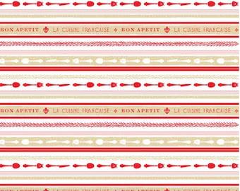 FiNAL CLoSE OuT SALE Ooh La La - Riley Blake  Fabric Yardage, Ooh La La, C4863 STRIPE RED