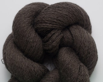 Dark Mocha Silk Cashmere Lace Weight Recycled Yarn, 3472 Yards Available