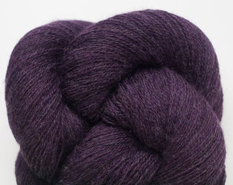 Frosted Eggplant Recycled Merino Lace Weight Yarn, 921 Yards Available