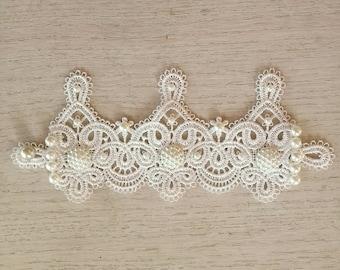 Wedding lace bracelet, bridal lace cuff, Venice lace bridal jewelry