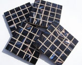 Black Glass Coasters