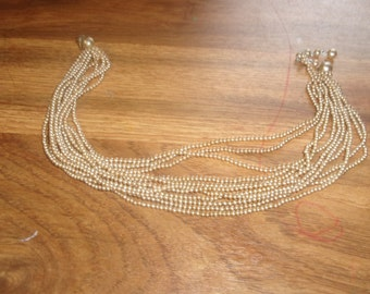 vintage necklace multi strand faux pearls