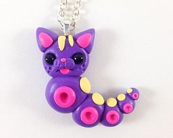 Purple Kittypillar Necklace
