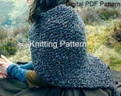 Outlander Shawl PDF Pattern Claire's Shaulette  Inspired Sassenach Knitting Pattern PDF File Is not a finished product.