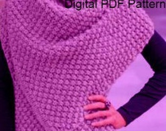 Multifunctional Shawl Cape Bolero Wrap Knitting Pattern PDF Pattern Is not a finished product. It is a PDF Pattern