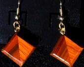 Wood Earrings - African Paduak