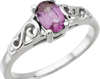 Sterling Silver Imitation Birthstone Rings