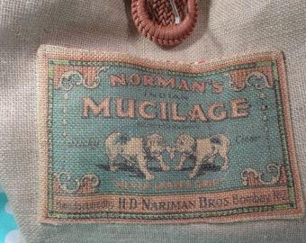 Handmade Dueling dogs handbag, purse, market bag with  woven belt handle and belt buckle