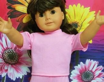 Fits 18 Inch American Girl Doll .. Princess Pink Short Sleeve T-Shirt ... D449