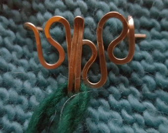 Made in the Moment Portuguese Knitting Pin in Bronze