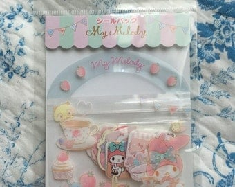 NEW 40 stciker flakes pack Sanrio My melody