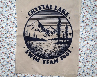 HORROR PATCH friday the 13th camp crystal lake swim team 1981 BACKPATCH