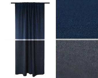 Dark blue curtains | Etsy