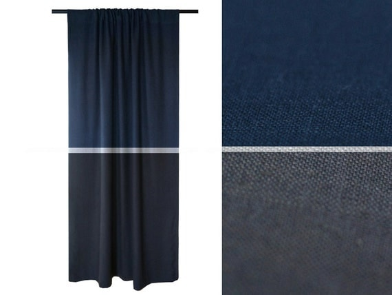 Curtain charcoal grey curtain linen window drapes geometric