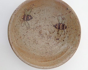 Small Bowl, Condiment Bowl with Bees