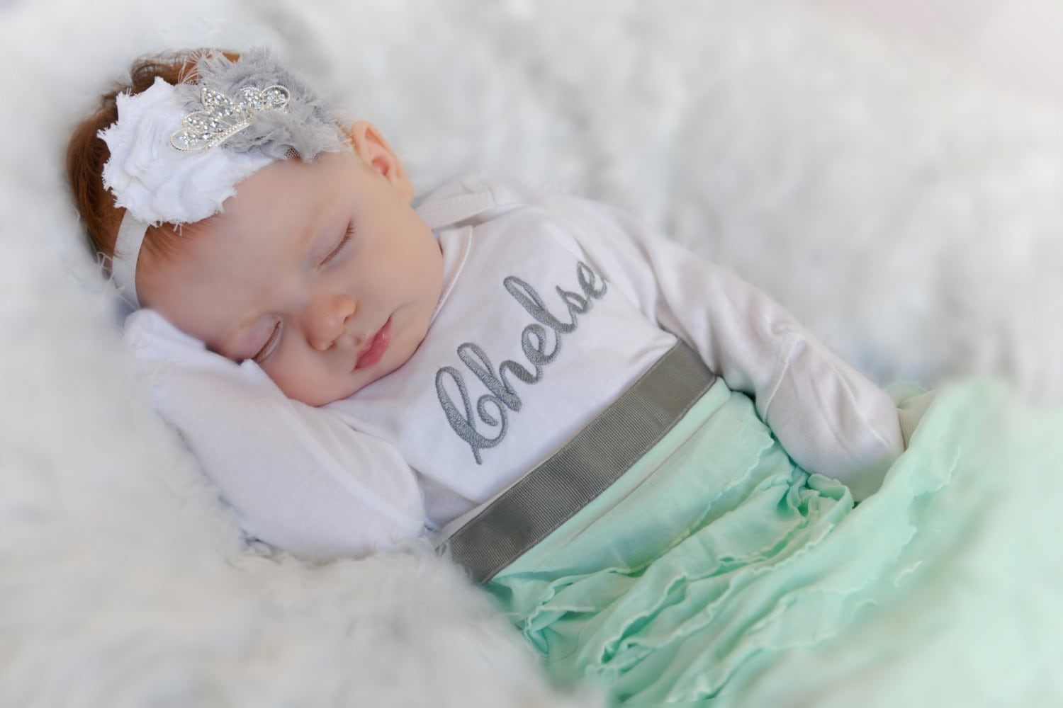 Personalized Newborn Gown Baby Girl Clothes Newborn Girl Take