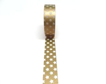 Metallic Gold Star Washi Tape