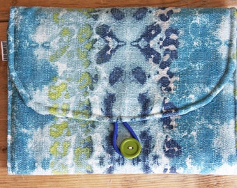 Travel Changing Pad - Diapering on the Go - Blues Watercolor