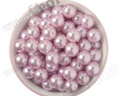 16mm - Pearl Metallic Cool Pink Gumball Beads, Chunky Pearl Beads, 16mm Pearl Beads, Pearl Gumball Beads, 2MM Hole