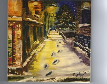 Christmas Corridor tile Marquette,Mi.