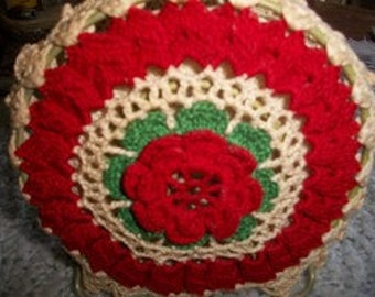 Vintage Crochet Napkin Holder