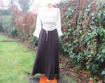 Long Skirt Vintage /Maxi / Brown / Lining / Size EUR 38 X UK10
