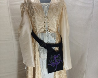 Woman's Laced Cream Irish Overdress