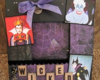 Disney Villains Decorative Frame  - Halloween - Maleficent - Evil Queen - Ursula