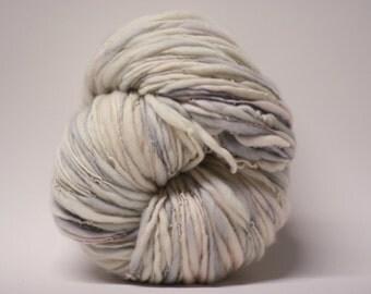 Hand spun Merino Wool Thick and Thin Yarn Slub  Hand Dyed tts(tm) Merino Bulky Self Striping miniLR 1601x Half-pounder