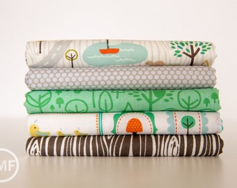 Scenic Route Woods Palette Fat Quarter Bundle , 5 Pieces, Deena Rutter, Riley Blake Designs, 100% Cotton Fabric, C3660
