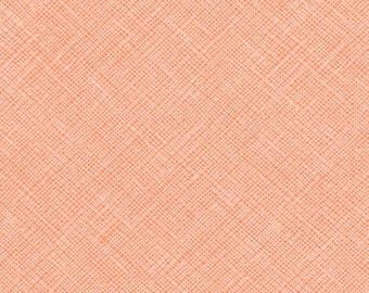 Architextures Crosshatch in Creamsicle, Carolyn Friedlander, Robert Kaufman Fabrics, 100% Cotton Fabric, AFR-13503-152 CREAMSICLE