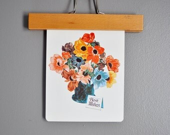 Over-Sized Mid-Century Flash Card - Flowers in a Vase