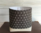 Storage Basket Geometric in Dark Grey