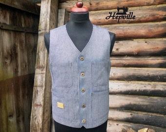 Hickory Stripe Work Vest -  US Size 38