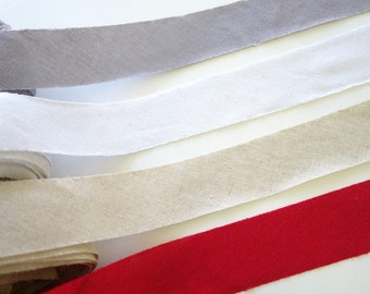 4cm Width Cotton Linen Bias Tape, Cotton Linen Binding Tape