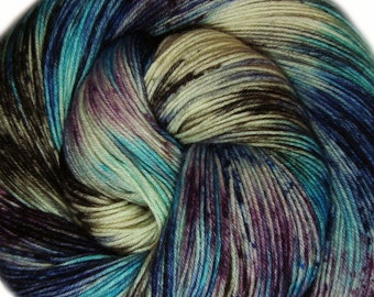 hand dyed yarn ICE QUEEN pick your base - sw merino bfl silk nylon stellina fingering dk