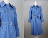 1970s Denim Trench Coat --> Vintage Trench Coat --> 1970s Jacket --> 1970 Denim Jacket --> Long Denim Jacket --> 70s Jacket --> Trench Coat