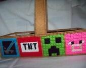 Mine Craft Basket  /  Easter Basket -
