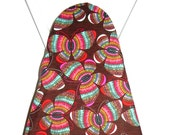Ironing Board Cover -  Turquoise, brown, orange, pink and yellow butterflies - Laundry and Housewares