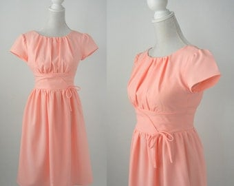 50 Style Dress, Retro Style Dress, 1950 Style Dress, Vintage Pink Dress, Pink 50s Dress, 1950 Pink Dress, Pink Summer Dress, Retro 50s Dress