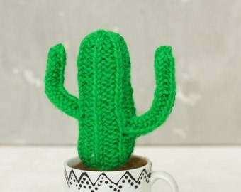 Christmas SALE Green Cactus Cacti Peyote with Flower Knitted Woolen Acrylic Handmade Cactus Cacti Peyote Gifts Home House Table Decor Christ