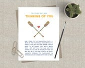 Funny Friendship Card Greeting Card Encouragement Stationery for Friend Thinking of You Canoe Paddle Preppy Hang in There Friend