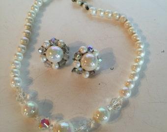 Necklace & Earring Set Vintage Lot 945